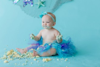 mermaid inspired cake smash by brooke tucker photography