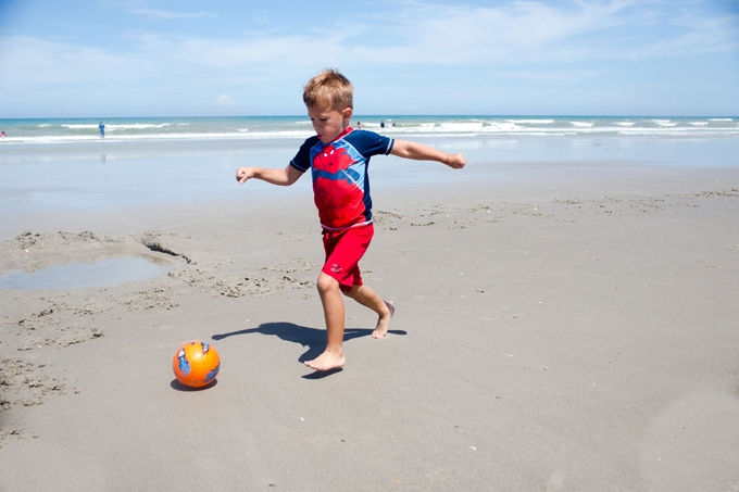 family fun at cocoa beach, children and family photography