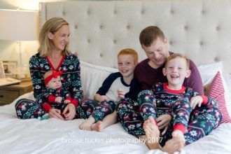 holiday family portraits, lifestyle christmas pajamas, family holiday pj's